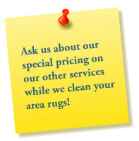 Ask us about our money saving specials on cleaning services